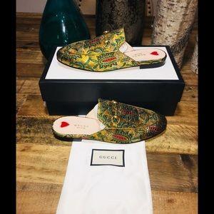 New Women Gucci Princetown Horsebit Mules Slippers